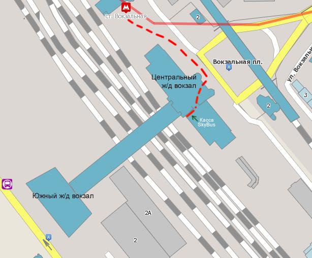 Схема посадки на ж/д вокзале в